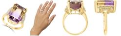 LALI Jewels Ametrine (13-5/8 ct. t.w.) & Diamond (1/6 ct. t.w.) Statement Ring in 14k Gold