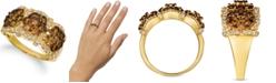 Le Vian Chocolate Diamond (1-3/4 ct. t.w.) & Nude Diamond (1/2 ct. t.w.) Triple Cluster Ring in 14k Gold