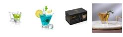 JoyJolt Aqua Vitae Off Base Triangle Martini Glasses, Set of 2