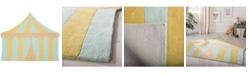 "Martha Stewart Collection Big Top MSR4569A Aqua 4'3"" x 5'6"" Area Rug"