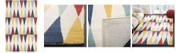 Martha Stewart Collection Backgammon MSR4573B Azure 4' x 6' Area Rug