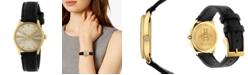 Gucci Women's Swiss G-Timeless Slim Black Leather Strap Watch 29mm