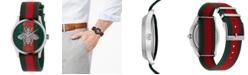 Gucci Unisex Swiss G-Timeless Green-Red-Green Nylon Web Strap Watch 38mm