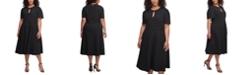 Tommy Hilfiger Plus Size Scuba Crepe Midi Dress