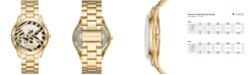 Michael Kors Women's Slim Runway Gold-Tone Stainless Steel Bracelet Watch 42mm