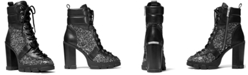 Michael Kors Ridley Lace-Up Lug Sole Boots