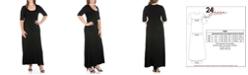 24seven Comfort Apparel Women's Plus Size Maxi Dress