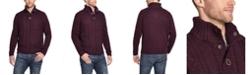 Weatherproof Vintage Men's Military Button Mock Sweater