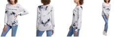 DKNY Jeans Tie-Dye Logo Long Sleeve T-Shirt