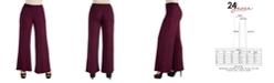 24seven Comfort Apparel Women's Plus Size Palazzo Pants