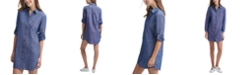Tommy Hilfiger Stitched Chambray Shirtdress