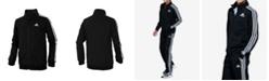 adidas Big Boys Zip Front Iconic Tricot Jacket