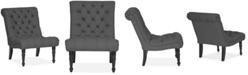 Furniture  Michaela Fabric Accent Chair, Quick Ship