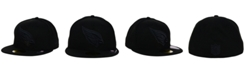 New Era Arizona Cardinals NFL Black on Black 59FIFTY Fitted Cap