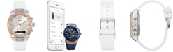 GUESS Women's Analog-Digital Connect White Silicone Strap Smart Watch 41mm C0002M2