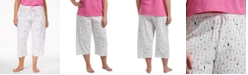 Hue Plus Size Cocktails Print Capri Pajama Pants