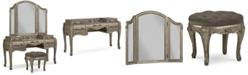 Furniture Zarina 3-Pc. Vanity Set (Vanity, Vanity Stool & Vanity Mirror)