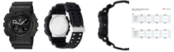 G-Shock Men's Black Resin Strap Round 55mm Watch GA100-1A1
