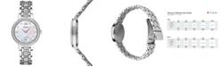 Seiko Women's Solar Dress Swarovski Crystal Stainless Steel Bracelet Watch 28mm SUP359