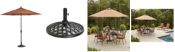 Furniture Chateau Outdoor 11' Umbrella & Base, Created for Macy's