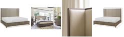 Furniture Rachael Ray Highline Upholstered Shelter Queen Bed