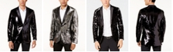 INC International Concepts INC Men's Slim-Fit Reversible Sequined Blazer, Created for Macy's