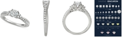 Macy's Diamond Engagement Ring (3/4 ct. t.w.) in 14k White Gold