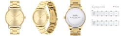 COACH Women's Grand Gold-Tone Stainless Steel Bracelet Watch 36mm