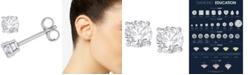 Macy's Diamond Stud Earrings (1-1/2 ct. t.w.) in 14k White Gold