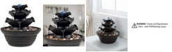 Trademark Global Pure Garden 3-Tier Cascading Tabletop Fountain with LED Lights