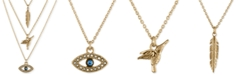 RACHEL Rachel Roy Gold-Tone Trio Charm Necklace
