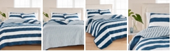 Martha Stewart Collection Cabana Stripe 100% Cotton Quilt and Sham Collection, Created for Macy's
