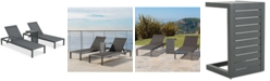 Furniture Westlake Outdoor Chaise Lounge and C-Shaped Side Table, Quick Ship