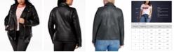 Levi's TrendyPlusSizeFaux-LeatherOversizedMotoJacket