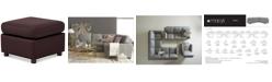Furniture Ennia Leather Ottoman, Created for Macy's