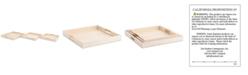 Zuo Camba 3-Pc. Cream Lizard-Embossed Square Tray Set