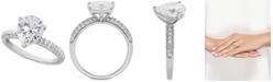 Arabella Swarovski Zirconia Pear-Shape Ring in Sterling Silver