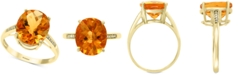 EFFY Collection EFFY® Citrine (4-1/5 ct. t.w.) & Diamond Accent Ring in 14k Gold