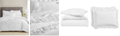 Martha Stewart Collection CLOSEOUT! Signature Ruffle Cotton 400-Thread Count 3-Pc. Duvet Sets, Created for Macy's