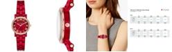 Michael Kors Women's Petite Norie Red Stainless Steel Bracelet Watch 28mm