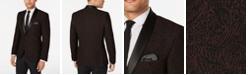Nick Graham Men's Slim-Fit Burgundy Jacquard Dinner Jacket, Online Only