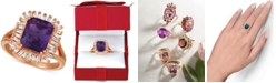 Le Vian Amethyst (2-1/2 ct. t.w.) & Diamond (1/3 c.t. t.w.) Ring in 14k Rose Gold