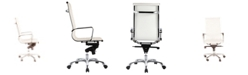 Moe's Home Collection Omega Office Chair High Back White