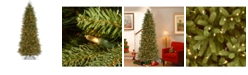 National Tree Company National Tree 6 .5' Feel Real Jersey Fraser Pencil Slim Fir Tree with 550 Clear Lights