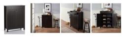 Furniture of America Jessa Slatted Shoe Cabinet