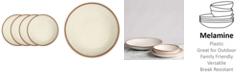 Q Squared Potter Terracotta Melaboo 4-Pc. Dinner Plate Set