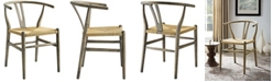 Modway Amish Dining Wood Side Chair in Weathered