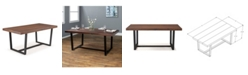 Walker Edison 72 inch Distressed Solid Wood Dining Table