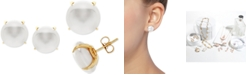 Macy's Honora Cultured Freshwater Coin Pearl (12mm) Stud Earrings in 14k Gold