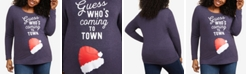 Motherhood Maternity Plus Size Guess Who's Coming To Town™ Christmas Maternity T-Shirt